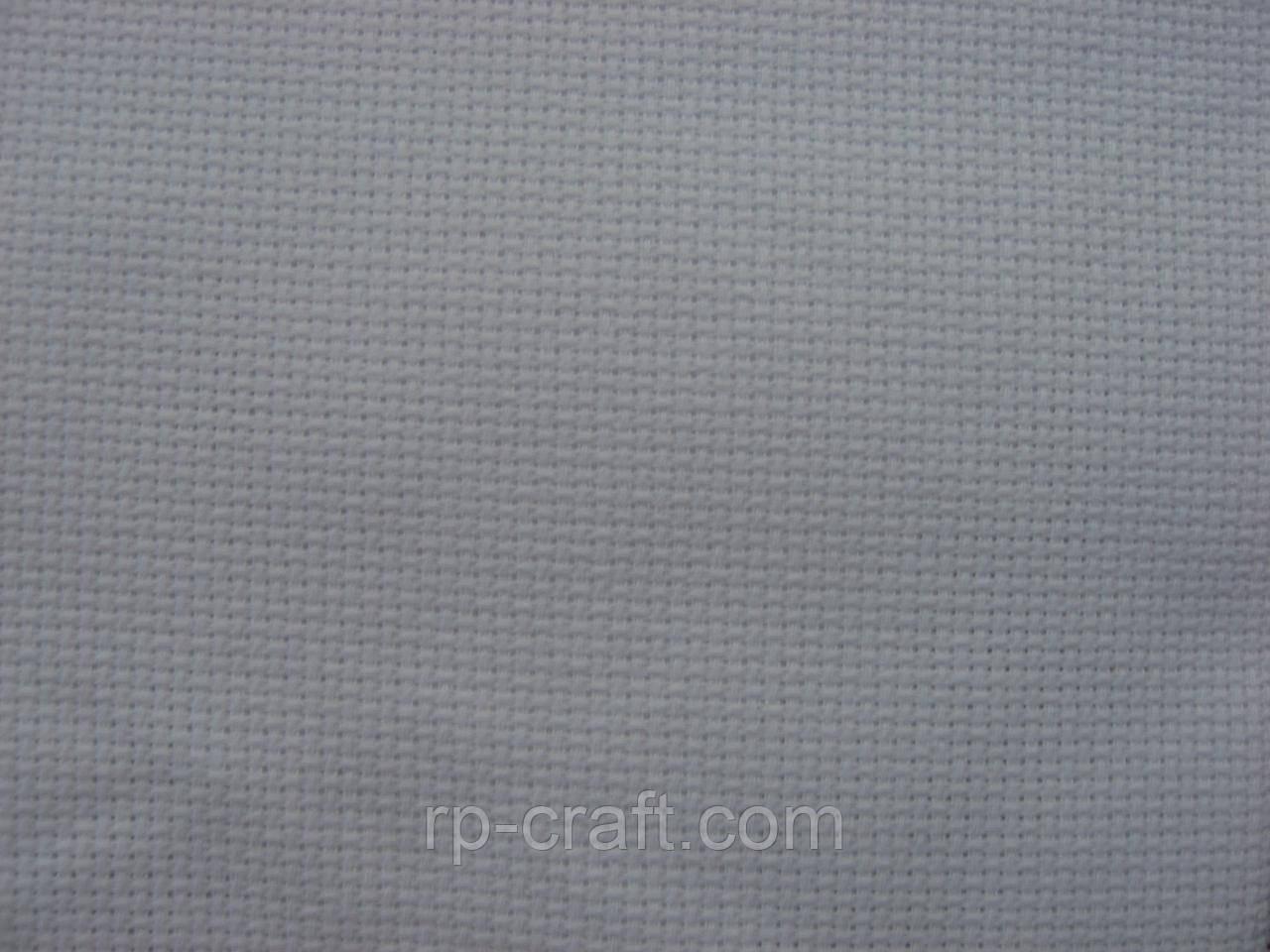 Отрез ткани для вышивки. Аида 18, белая, 22х54 см