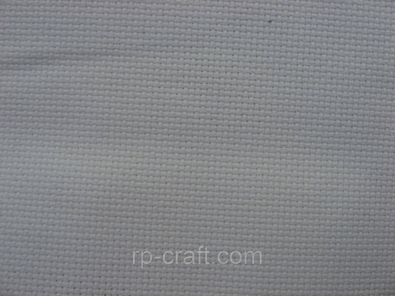 Отрез ткани для вышивки. Аида 18, белая, 35х38 см