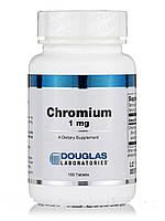 Хром 1 мг, Chromium, Douglas Laboratories, 100 таблеток, фото 1