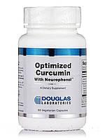Оптимизированный куркумин с нейрофенолом, Optimized Curcumin with Neurophenol, Douglas Laboratories, 60 вегетарианских капсул, фото 1
