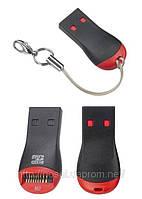 Картридер M2 +microSD USB 2.0 T-Flash TF M2 микро сд мемори стик флешка юсб card reader   Работает с картами ф