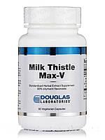 Молочко четорополох Макс-В, Milk Thistle Max-V, Douglas Laboratories, 60 Вегетарианские Капсулы, фото 1