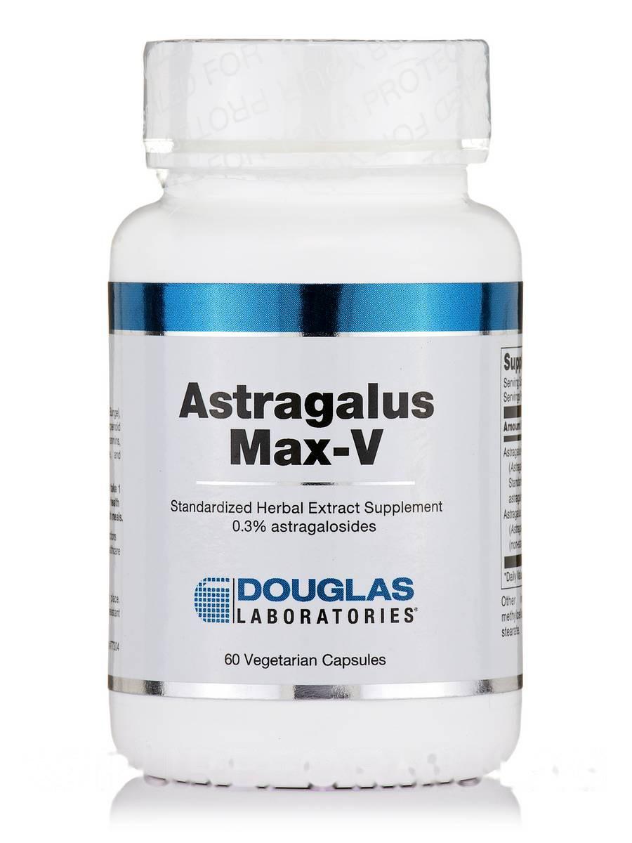 Астрагал Макс-В, Astragalus Max-V, 60 Вегетарианских капсул, Douglas Laboratories,