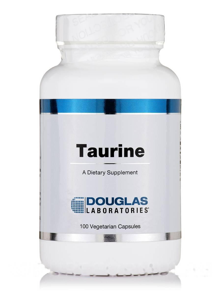 Таурин, Douglas Laboratories, 100 вегетарианских капсул