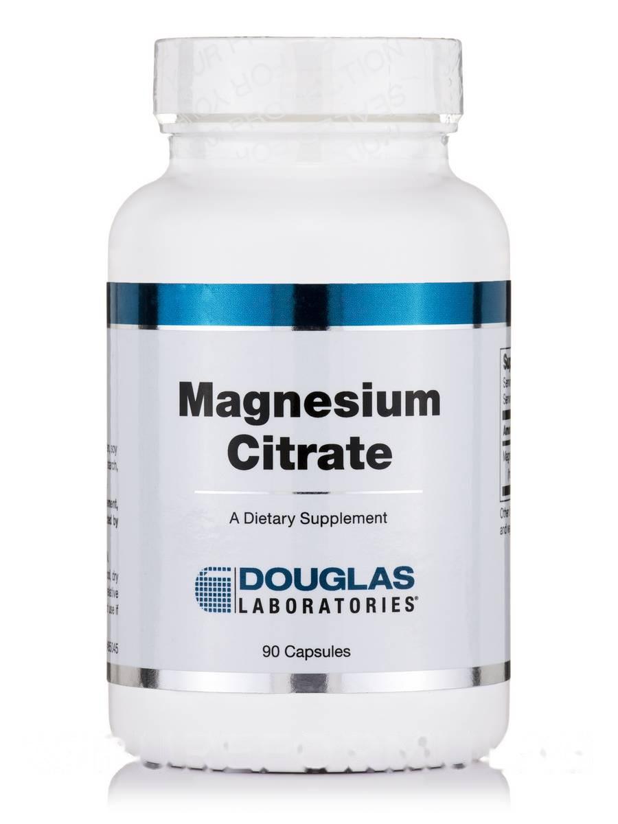 Цитрат магния, Magnesium Citrate, Douglas Laboratories, 90 капсул