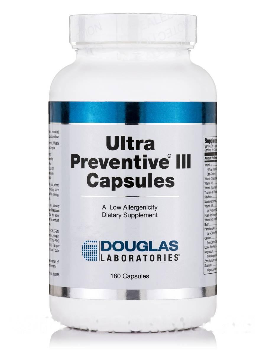 Ультра Профилактика III, Ultra Preventive III, Douglas Laboratories, 180 Капсул