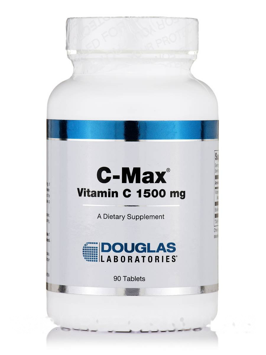 C-Макс (Витамин C 1500 мг), C-Max Vitamin C, Douglas Laboratories, 90 Таблеток