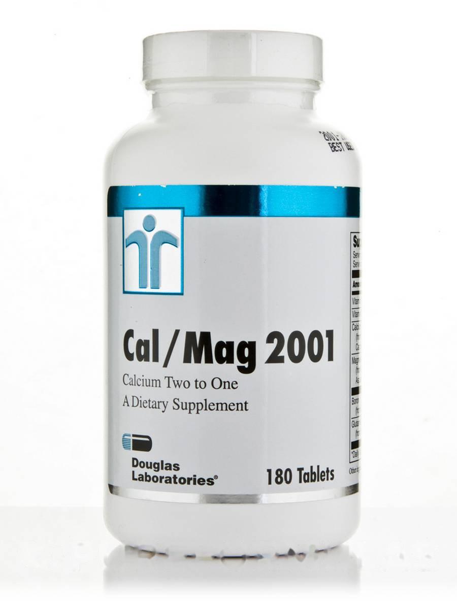 Кальций/ Магний 2001 (Кальций два к одному), Cal/Mag 2001 (Calcium Two to One), Douglas Laboratories, 180 таблеток
