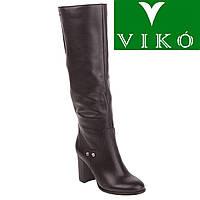 Сапоги женские Viko (стильные, кожаные, на высоком устойчивом каблуке, изысканные)