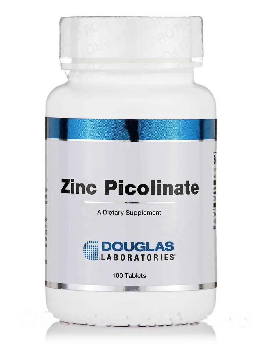 Пиколинат цинку, Zinc Picolinate, Douglas Laboratories, 100 таблеток