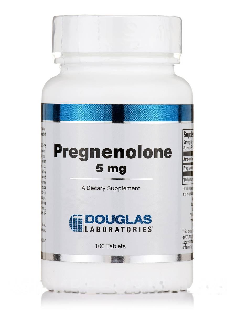 Прегенолон 5 мг Сублингвальный, Pregnenolone 5 mg Sublingual, Douglas Laboratories, 100 таблеток