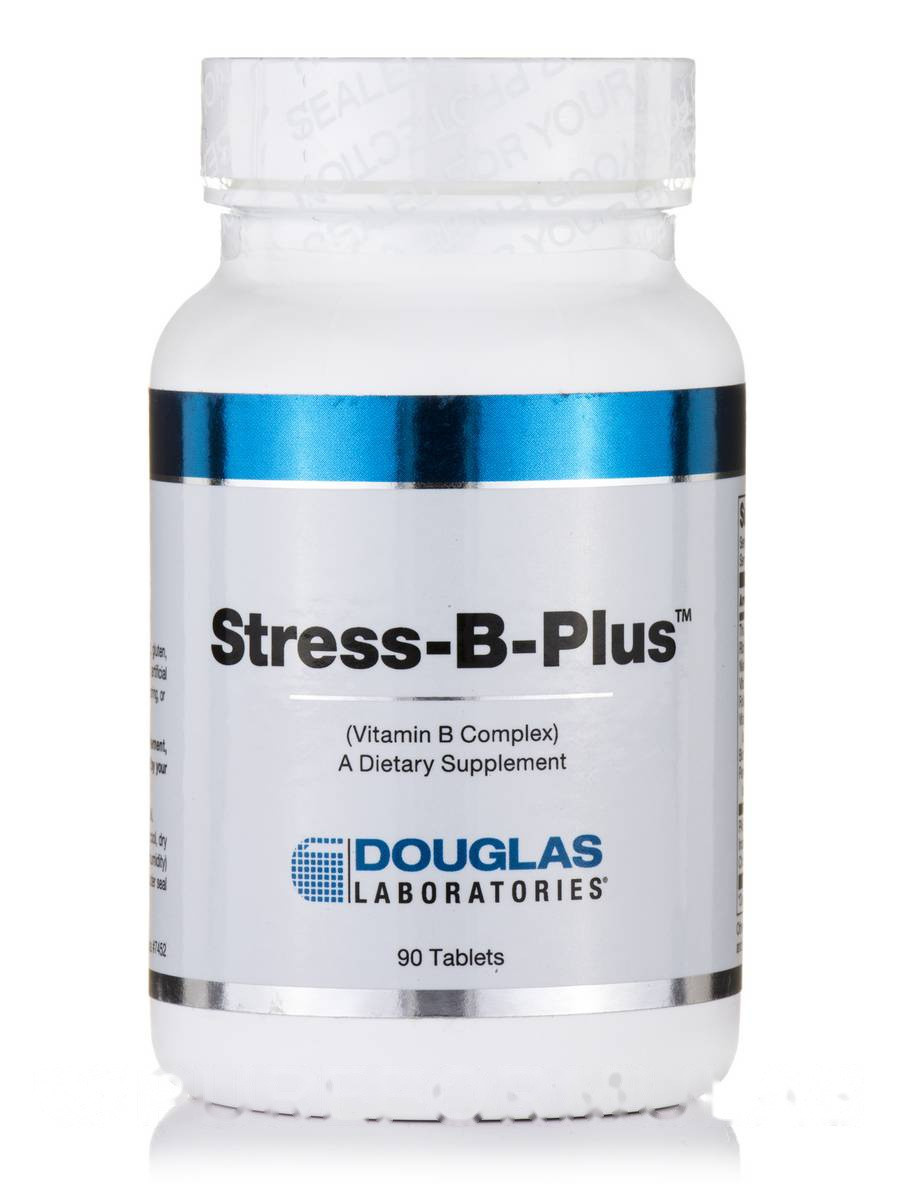 Стрес -B-Блюс, Stress-B-Plus, Douglas Laboratories, 90 Tablets