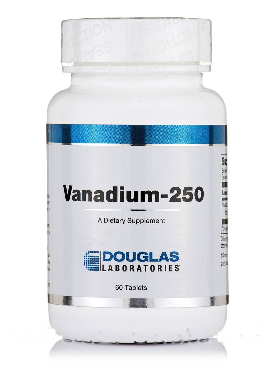Ванадий-250, Vanadium-250, Douglas Laboratories, 60 таблеток