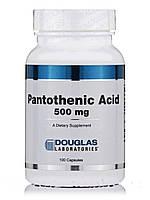 Пантотеновая кислота 500 мг, Pantothenic Acid, Douglas Laboratories, 100 капсул, фото 1