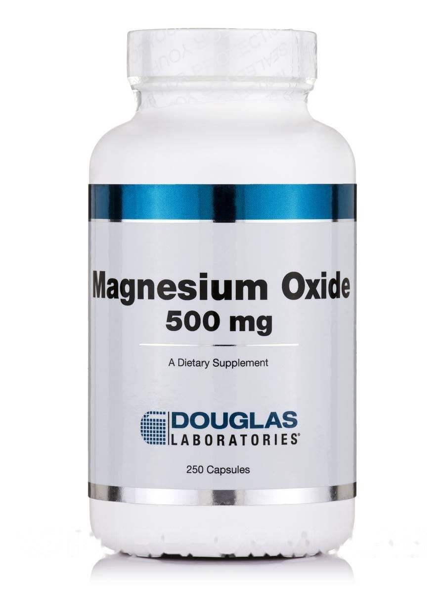 Оксид магния 500 мг, Magnesium Oxide, Douglas Laboratories, 250 капсул