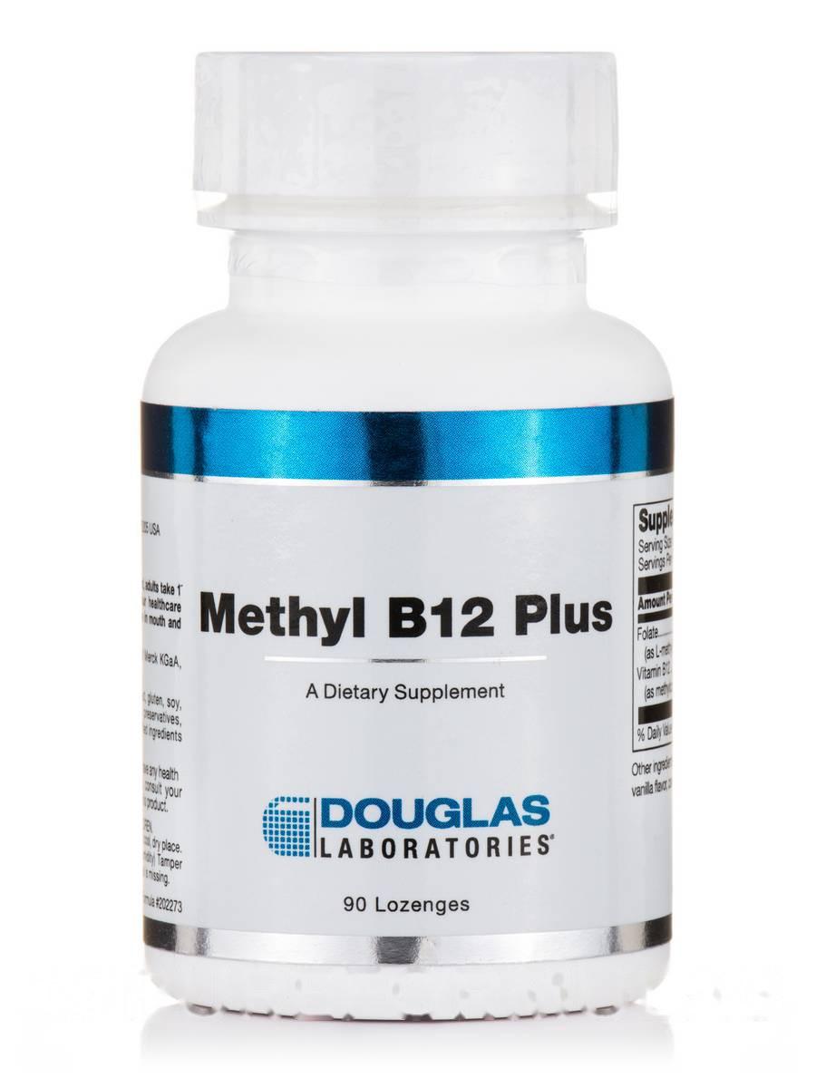 Метил B12 Плюс, Methyl B12, Douglas Laboratories, 90 Леденцы