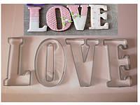 "Вырубка ""LOVE"", 5 деталей"