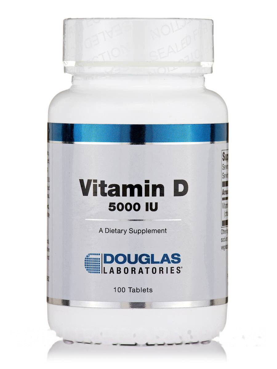 Витамин D 5000 МЕ, Vitamin D 5000 IU, Douglas Laboratories, 100 таблеток