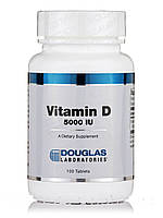 Витамин D 5000 МЕ, Vitamin D 5000 IU, Douglas Laboratories, 100 таблеток, фото 1