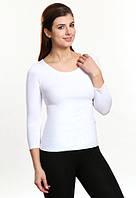 Тамара белая футболка с рукавом три четверти коттон