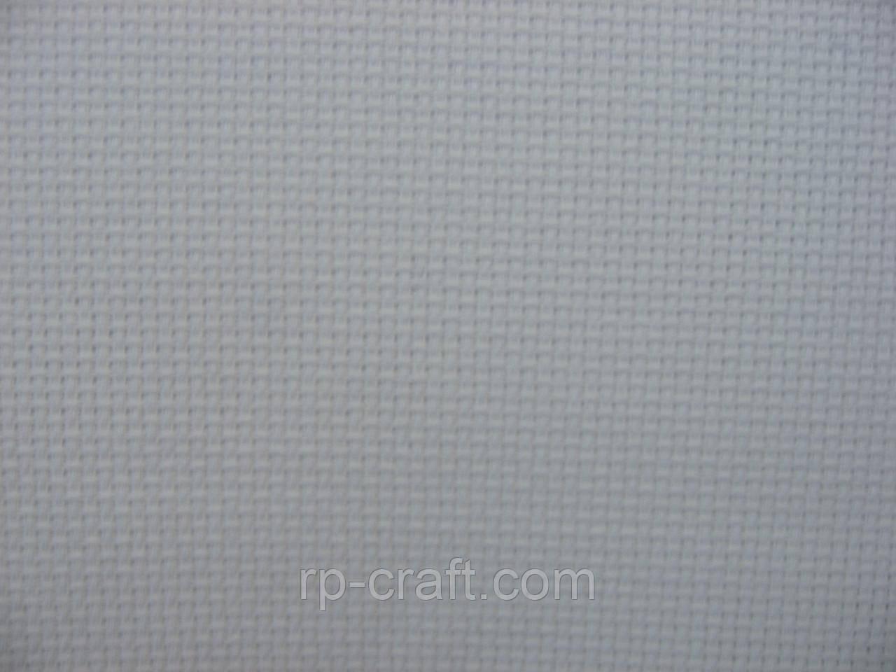 Отрез ткани для вышивки. Аида 16, белая, 28х64 см