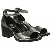 Босоножки женские Guero (кожаные, на устойчивом каблуке, стильные, удобные)