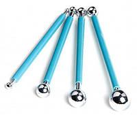 Инструмент-шарик  для работы с мастикой, набор 4шт.