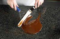 Камень для работы с шоколадом, плита из лабрадорита, 40 х 60 х 1,8 см, Украина