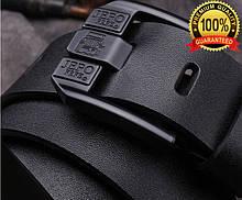 Ремень мужской кожаный jepo/ цвет: черный. Бесплатная доставка!