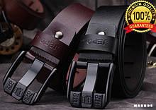 Оригинальный качественный мужской кожаный ремень jepo/ цвета: черный и коричневый.