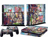 Скины для Sony Рlaystation 4 + 2 геймпада Нью-Йорк (Винил)