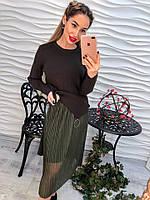Очень модный и красивый женский костюм юбка+туника