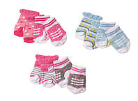 Носочки для куклы BABY BORN 2 пары, 3 вида в ассорт Zapf (823576)