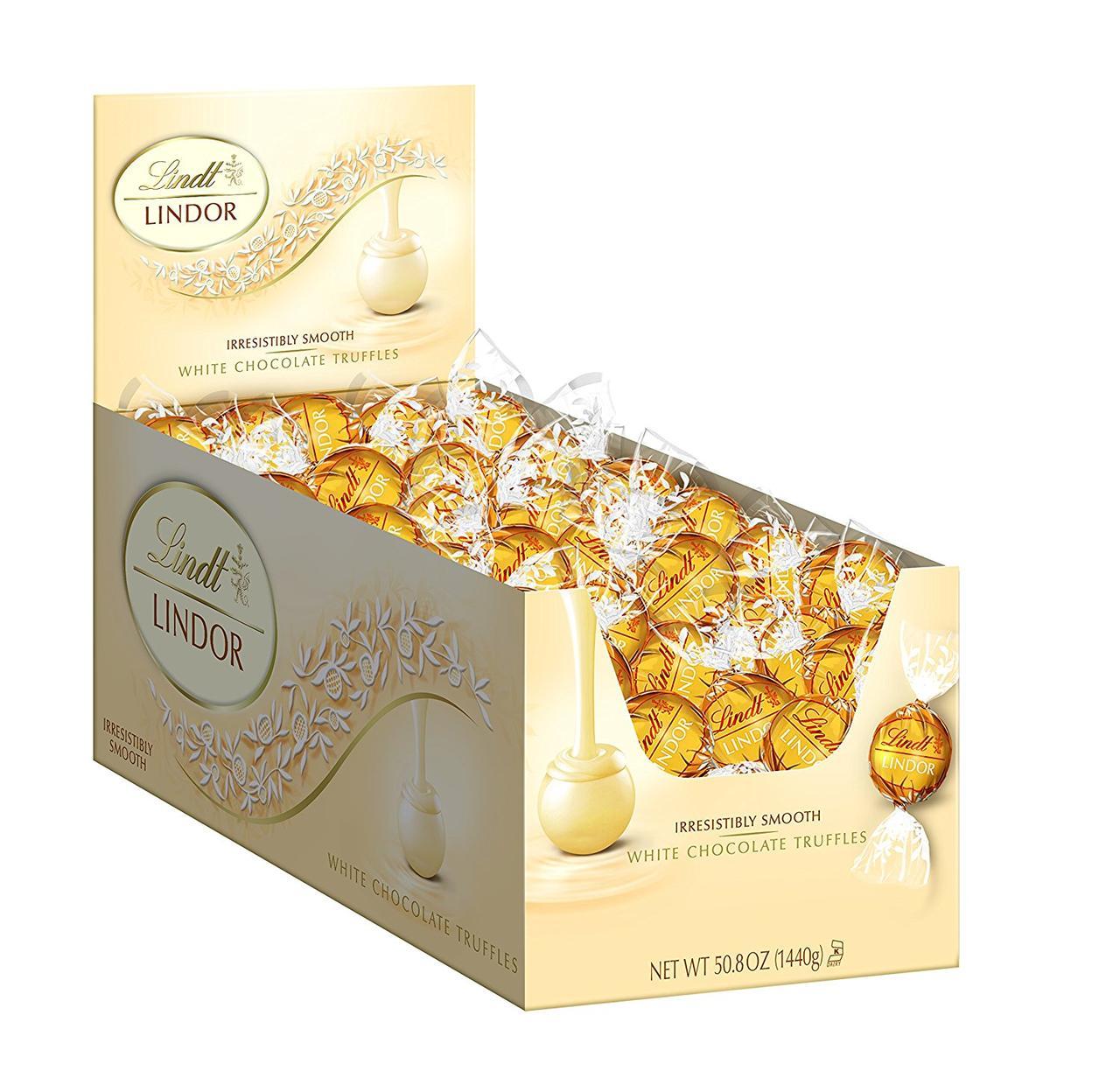 Lindt Lindor Трюфели белый шоколад White Chocolate Truffles, 1440г