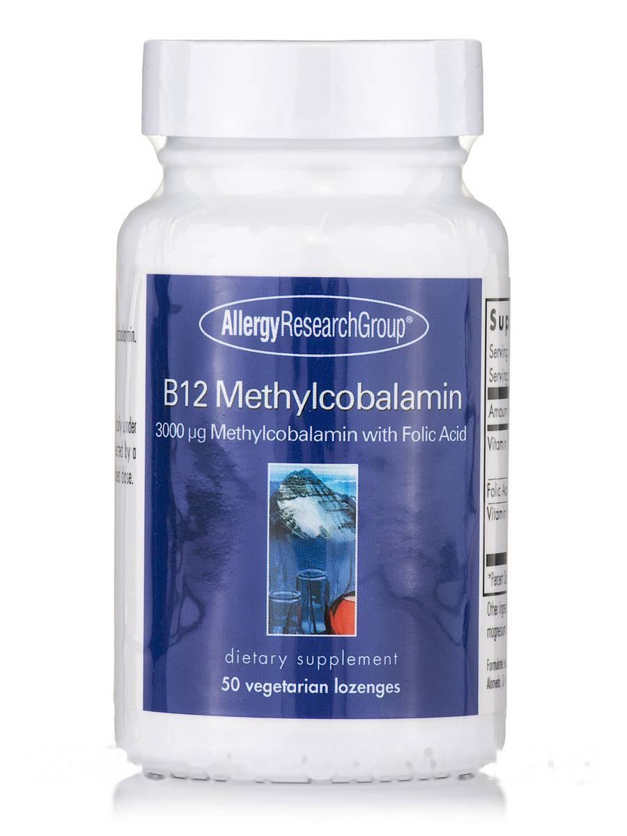 B12 Methylcobalamin, 50 Vegetarian Lozenges