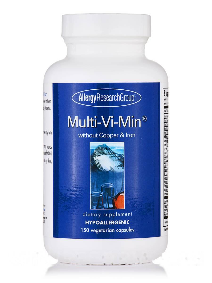 Multi-Vi-Min without Copper & Iron, 150 Vegetarian Capsules