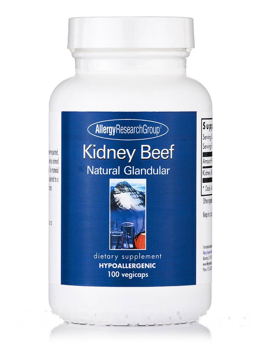 Kidney Beef Natural Glandular, 100 Vegetarian Capsules