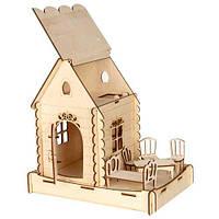 Сборная деревянная модель Домик домовичка