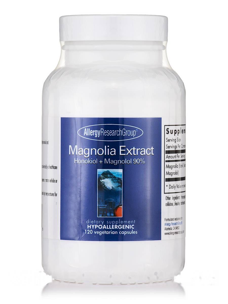 Magnolia Extract Honokiol + Magnolol 90%, 120 Vegetarian Capsules