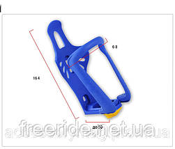 Флягодержатель Topeak регулируемый (синий) пластик, фото 3