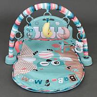 Мягкий коврик для новорожденных с пианино