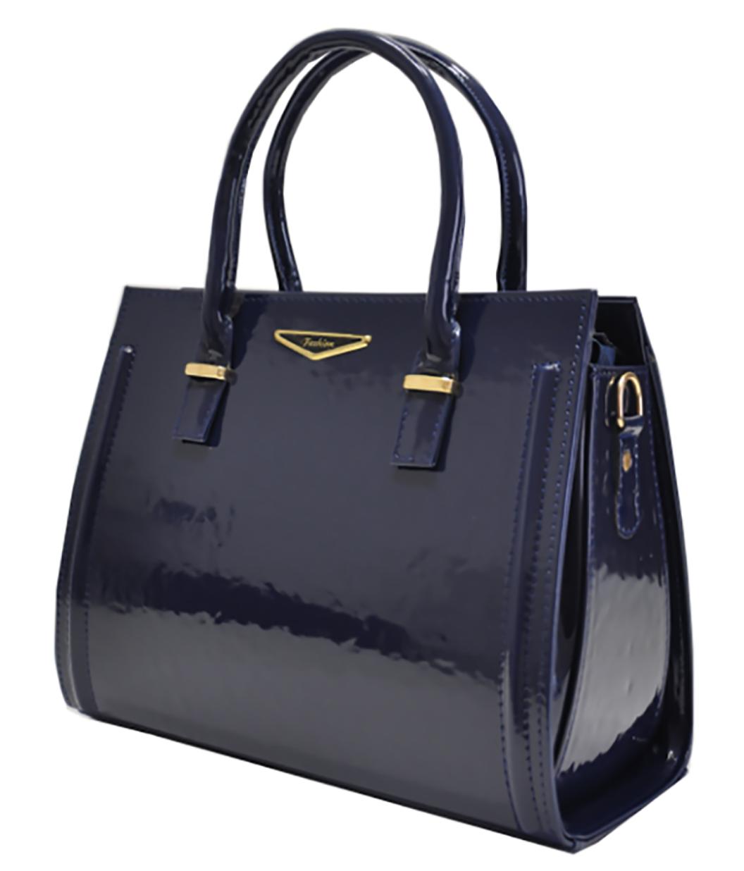 d9b37e310539 Сумка классическая синяя лаковая жесткая стильная - Интернет-магазин сумки  Lumy в Черновцах