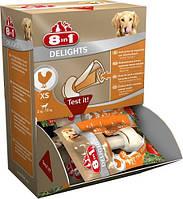 8in1 (8в1) Delights Bones XS 30шт - Кости для очищения зубов с мясом курицы - лакомство для собак
