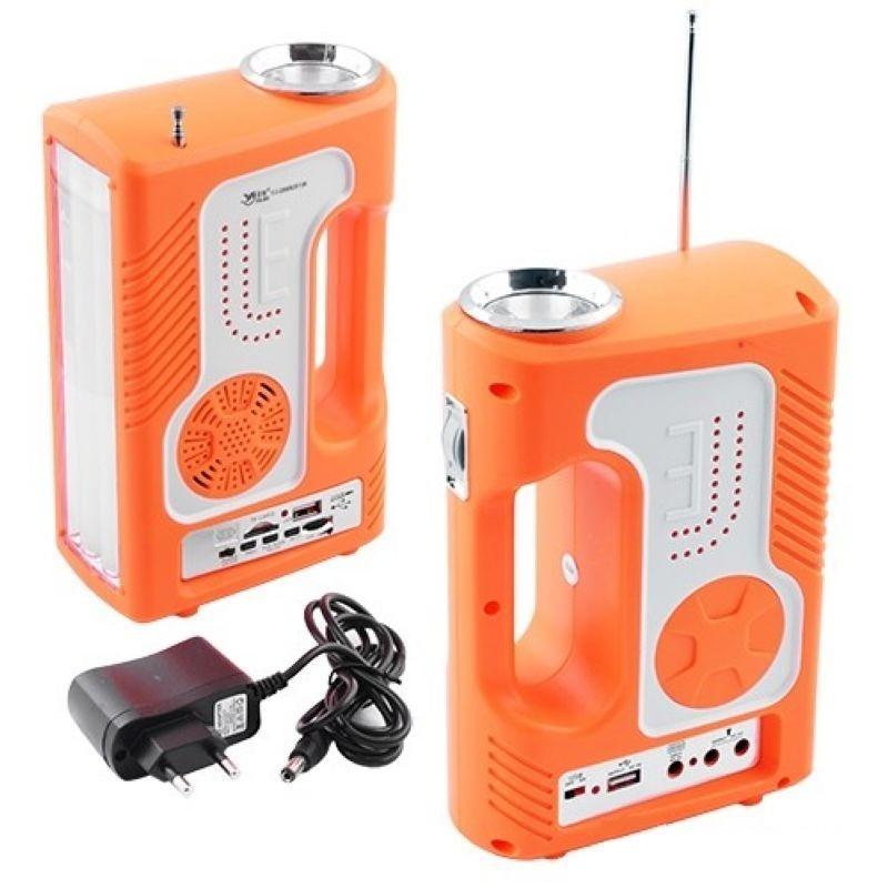 Переносной фонарь LUXURY 2889 SY радио USB power bank