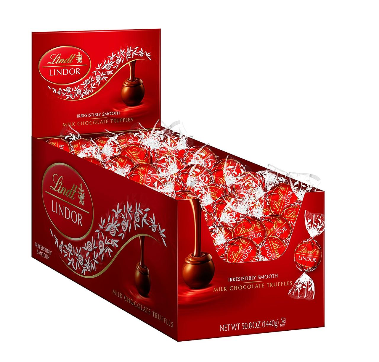 Lindt Lindor Трюфели молочный шоколад Milk Chocolate Truffles, 1440г