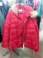Куртка зимняя на синтепоне цвет красный