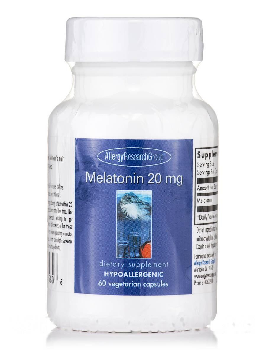 Melatonin 20 mg, 60 Vegetarian Capsules