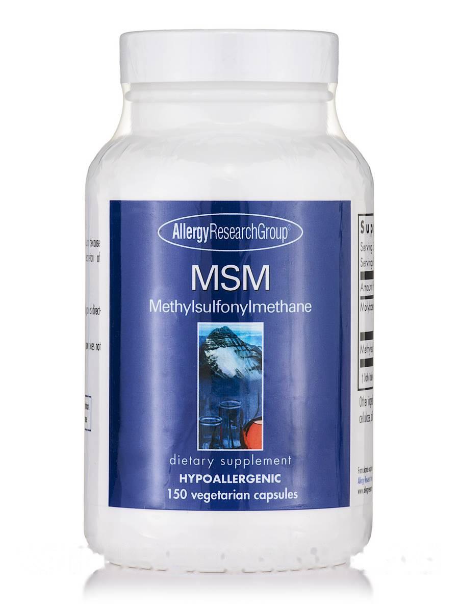 MSM Methylsulfonylmethane, 150 Vegetarian Capsules