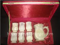 Набор кувшин из  натурального камня оникса плюс 6 стаканов