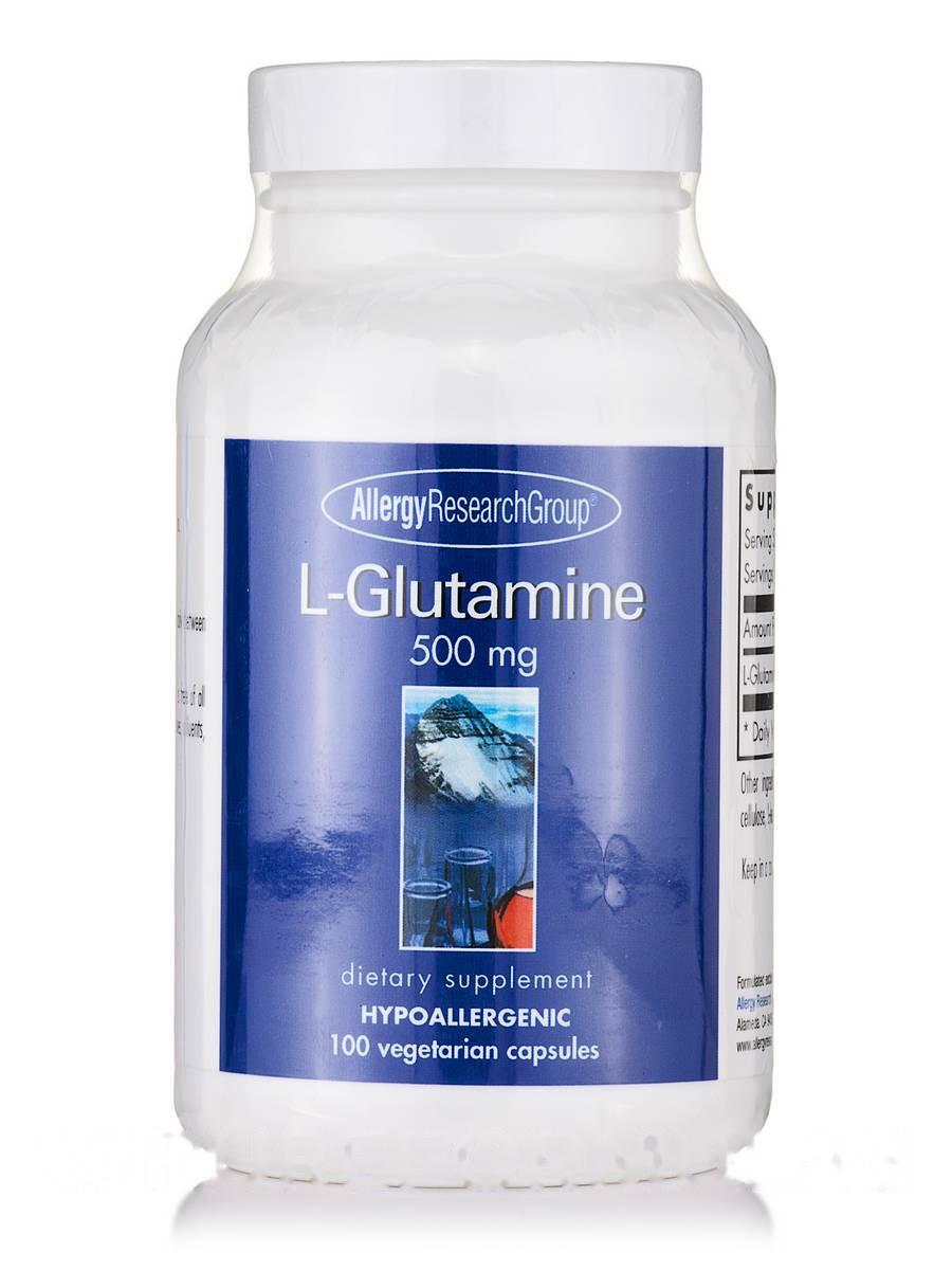 L-Glutamine 500 mg, 100 Vegetarian Capsules